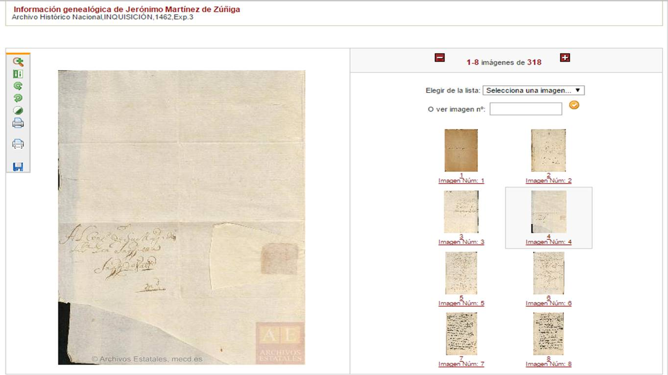 Archivo digitalizado de PARES