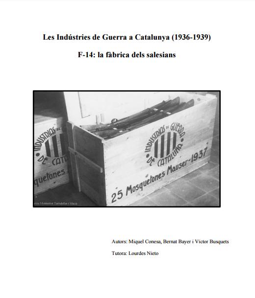 Trabajo «Les Indústries de Guerra a Catalunya»