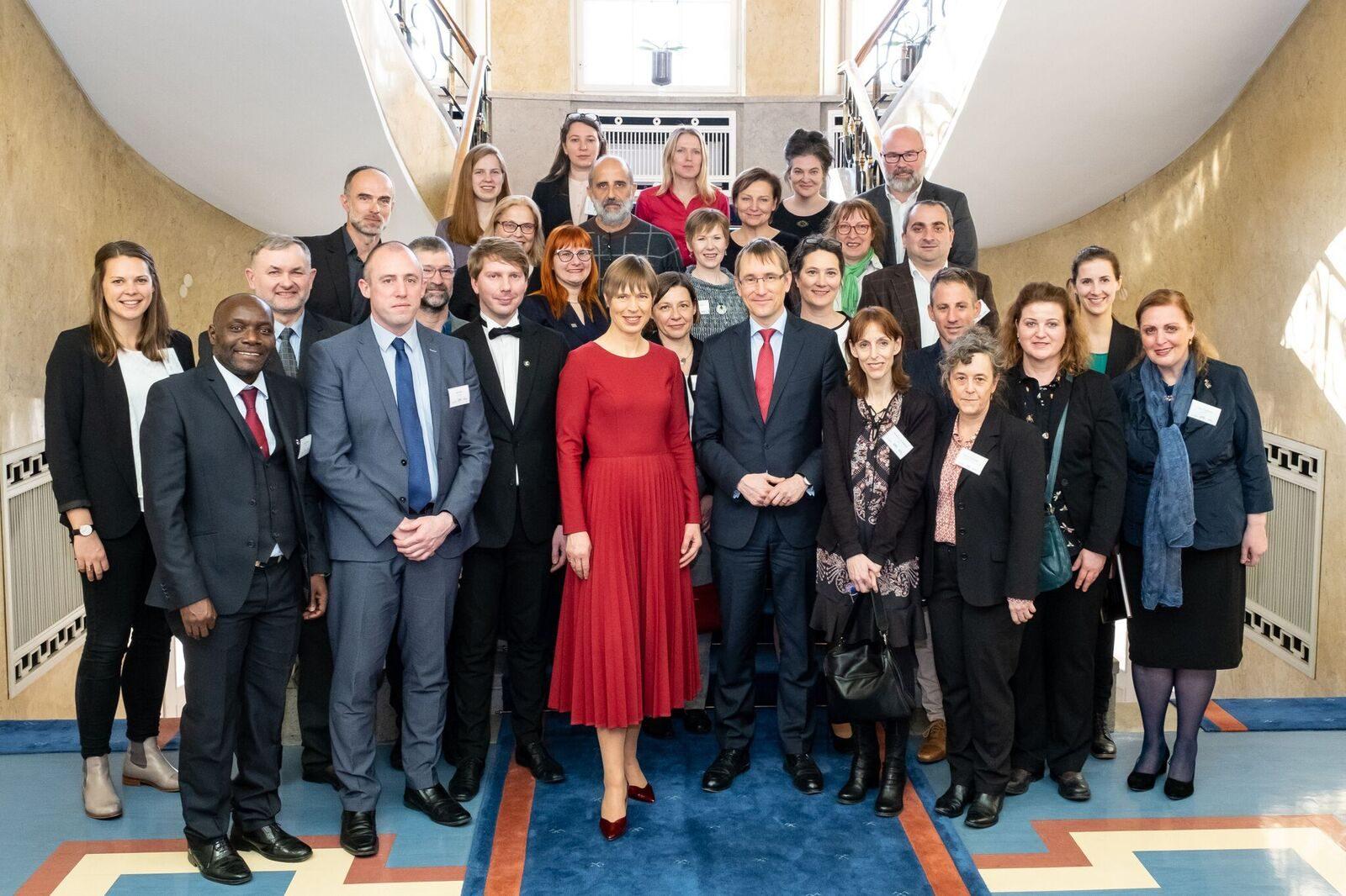 Recepción de la Red EUSTORY por la presidenta estonia Kaljulaid   Foto: Aron Ur