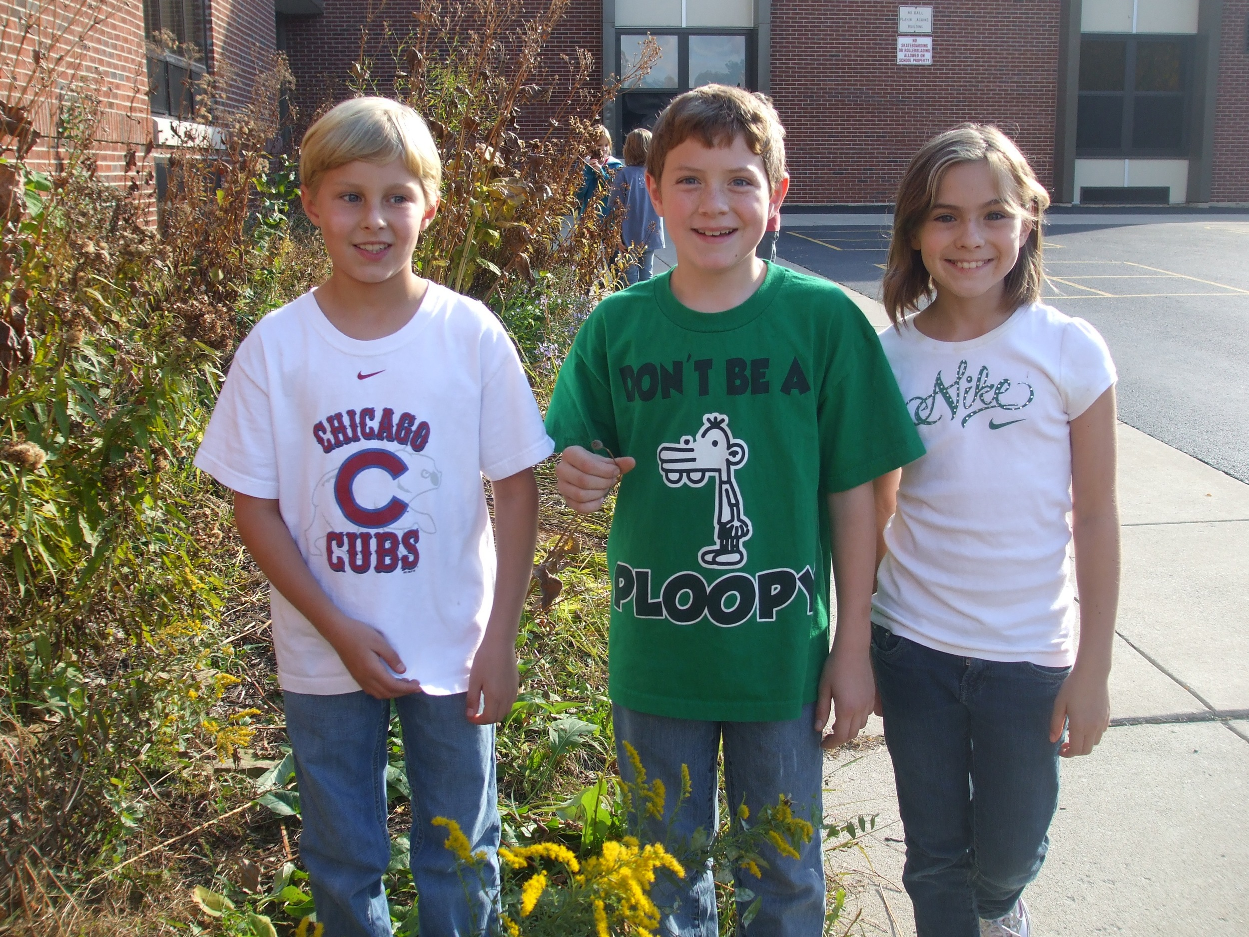Kids garden club that took care of native plants in their playground.