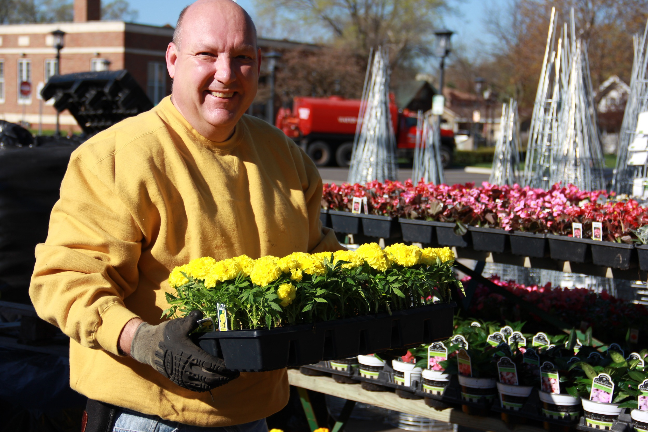 New staff member, Marty, is a plant expert and is excited to help you shop.