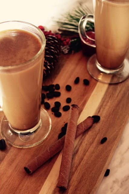 A delicious almond cookie flavoured coffee beverage!