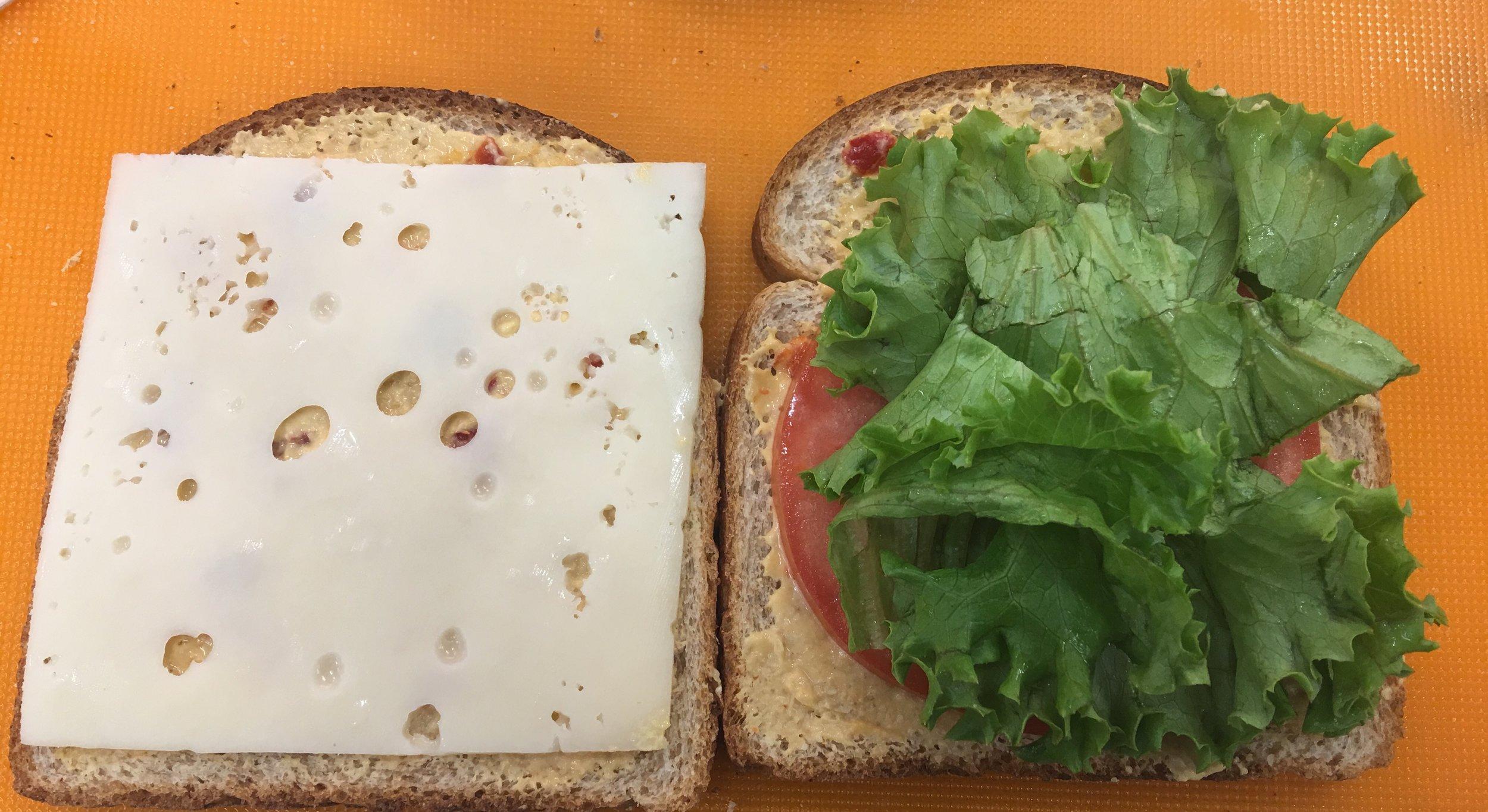 Roasted red pepper hummus sandwich 2.jpeg