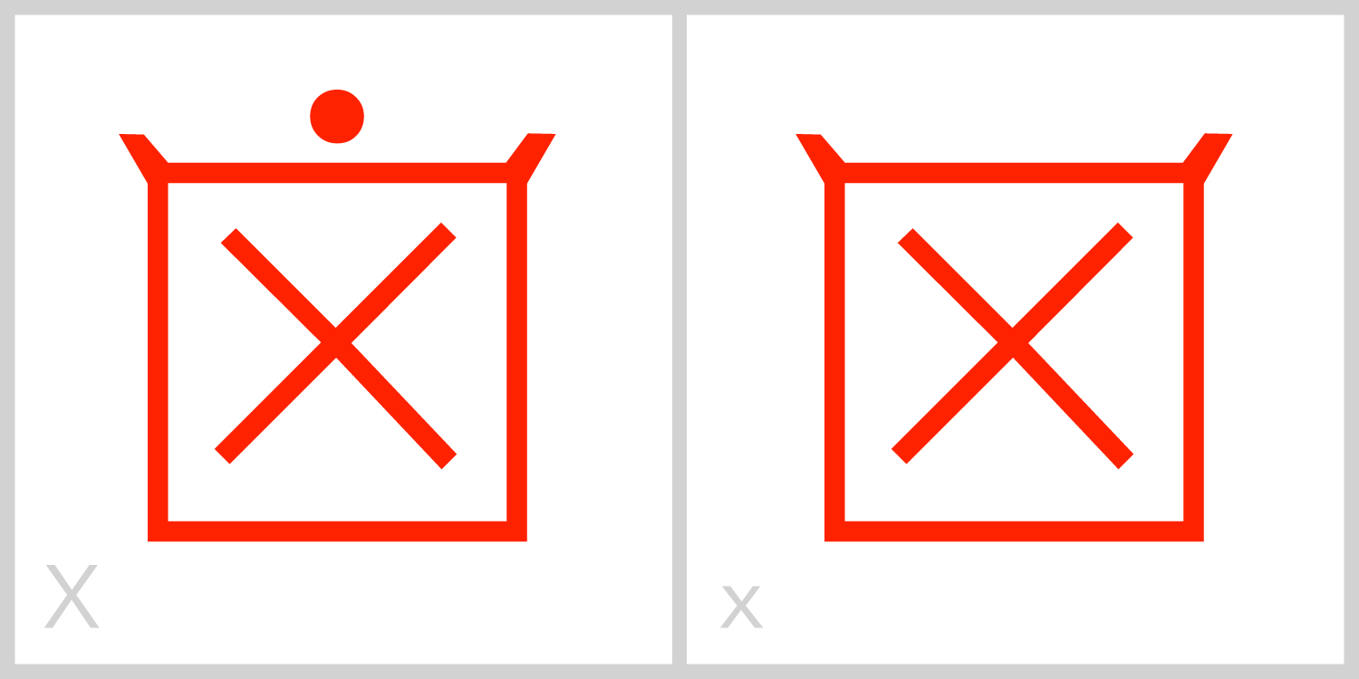 Xx  X has a square frame with two diagonal lines inside the frame, each extending from one corner of the top of its frame to the opposite bottom corner, like a Roman letter X.