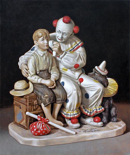 Untitled (Rockwell Clown), 2014, 26_x33_, oil on canvas.jpg