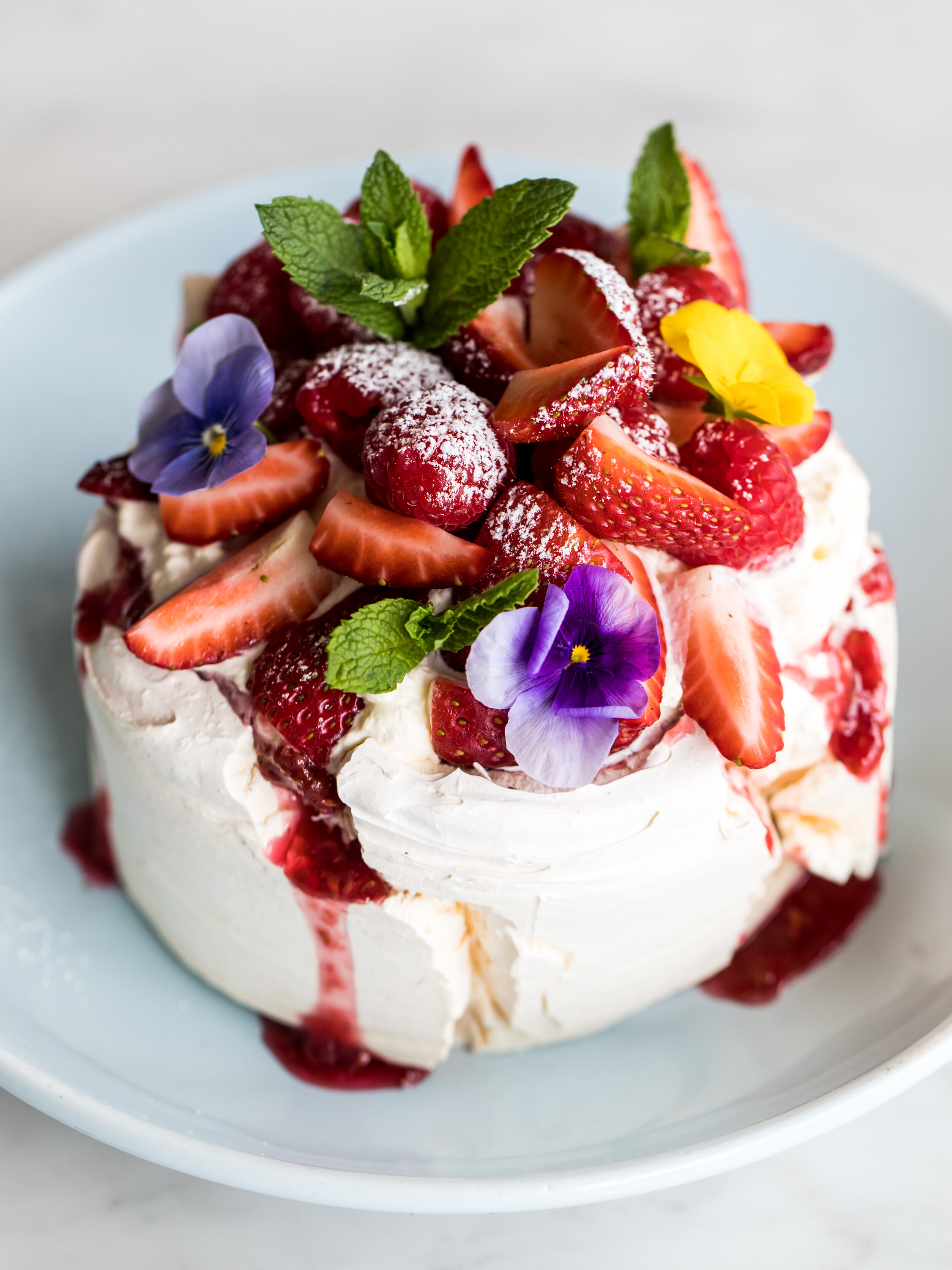 On the menu at The Boathouse Hotel Patonga: Patonga pavlova with fresh berries, coulis + cream.
