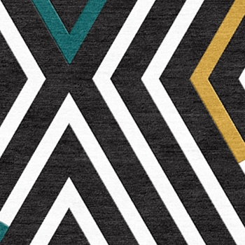 Teal, Gold, B&W Reverse Zebra   KGHX-ZEB-201