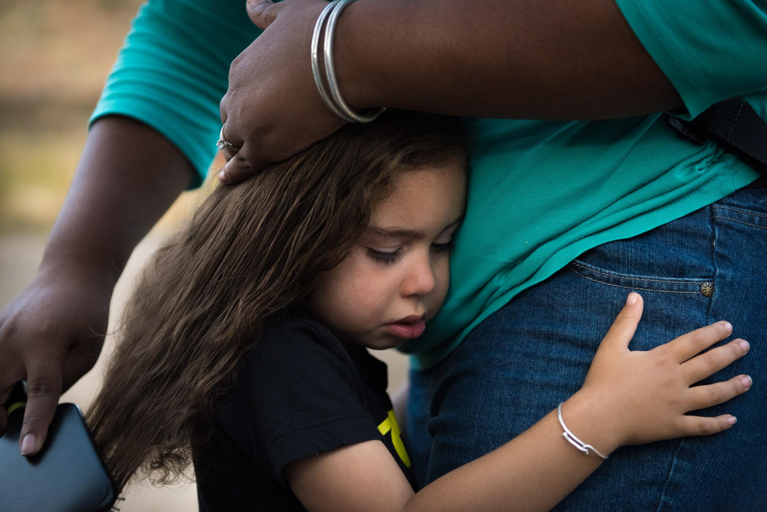 Documentary Family Photography in Denver, Colorado - hair-brushing