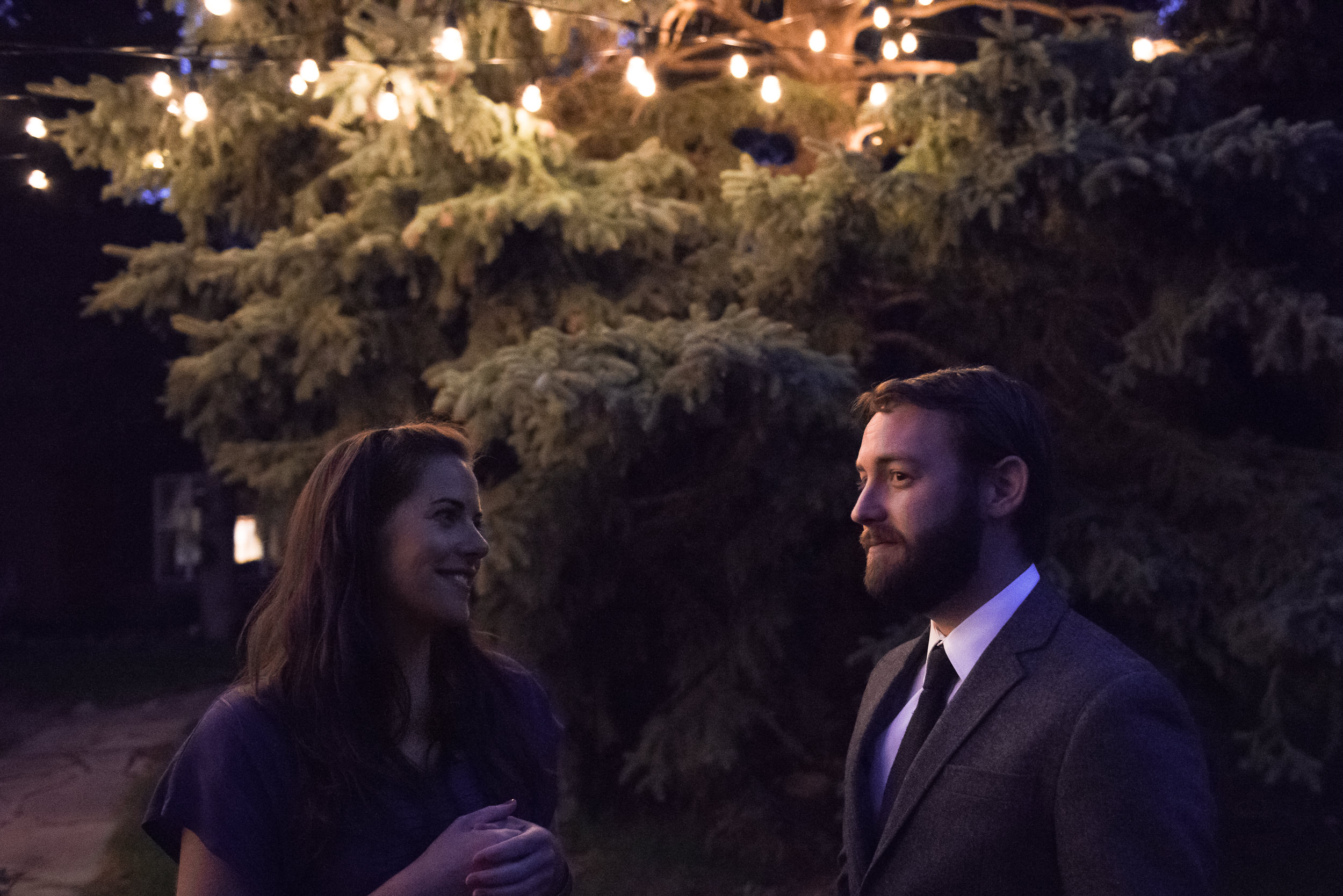 Molly Rees Photo - Documentary Wedding Photography in Denver, Colorado - outdoor reception at night by M. Menschel