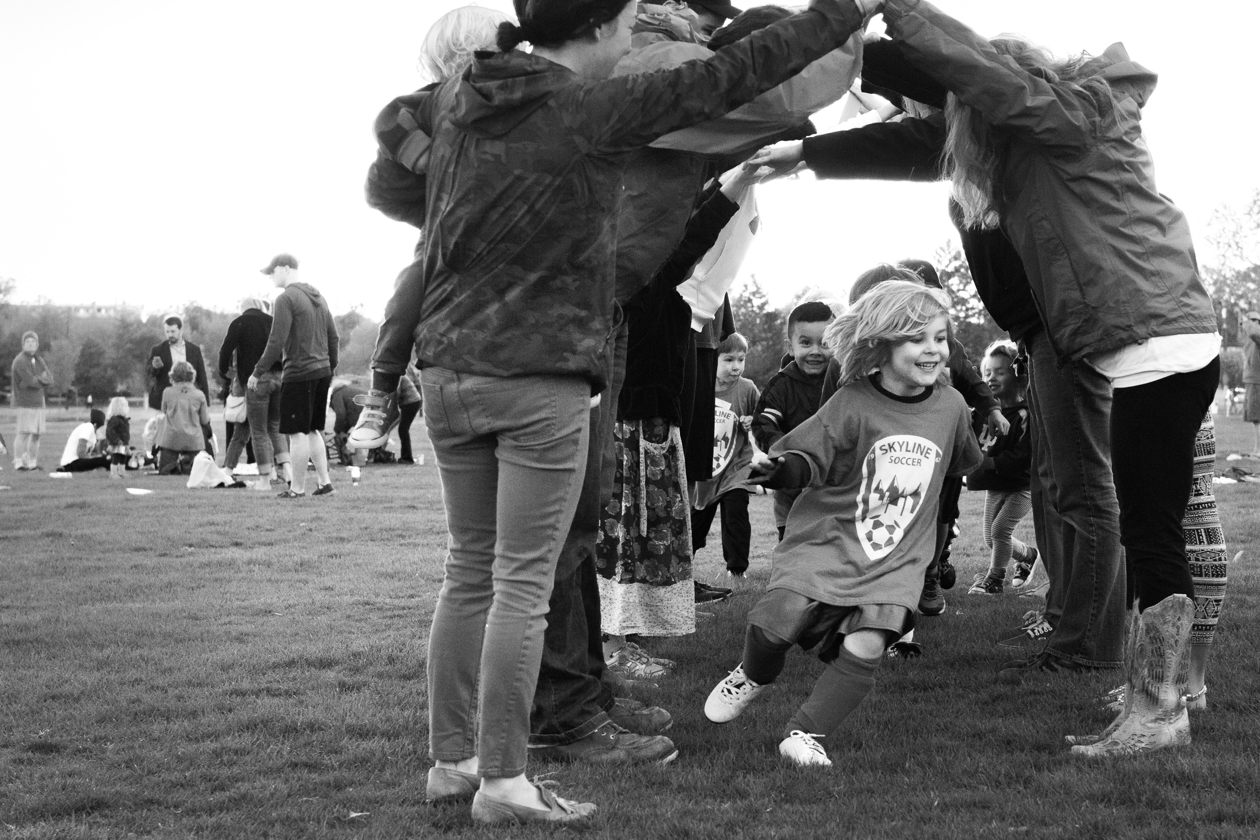 Black and White Documentary Family Photography in Denver, Colorado - boy at soccer practice