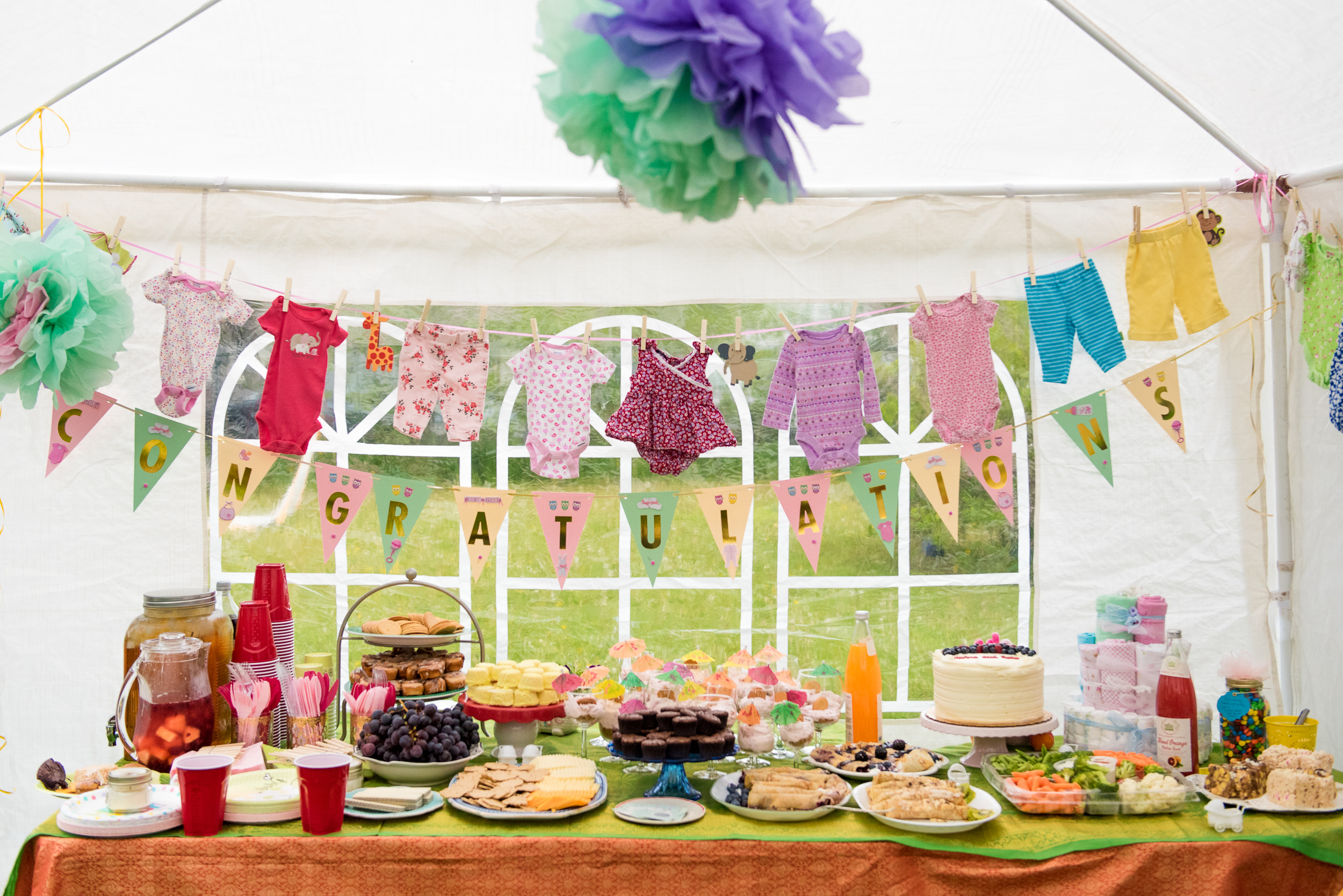 Documentary Family Photography in Denver, Colorado - baby shower decorations and refreshments