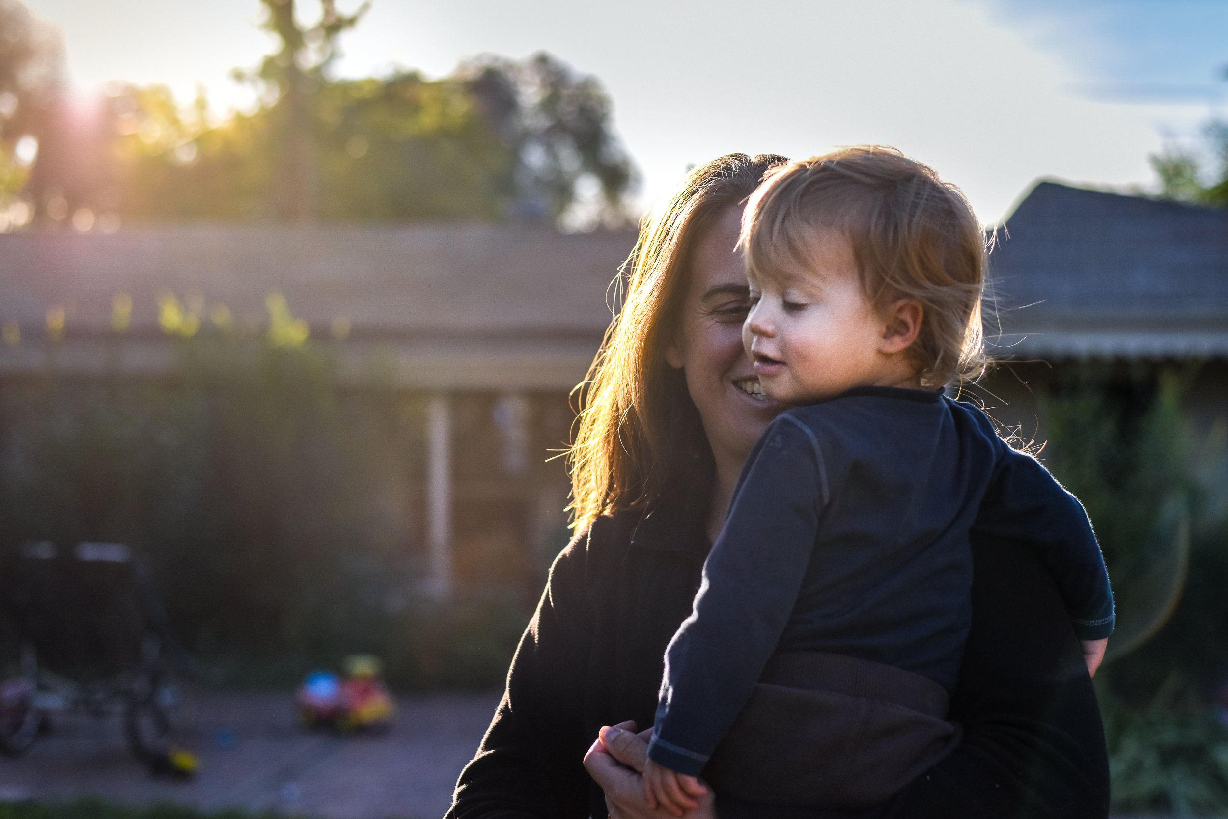 Blog - The Pen & Camera - Gratitude Journal, Inspirational, Spring, Writing, Denver, Colorado, Friendship -  Documentary Childhood Photography - mom with boy later afternoon sunset