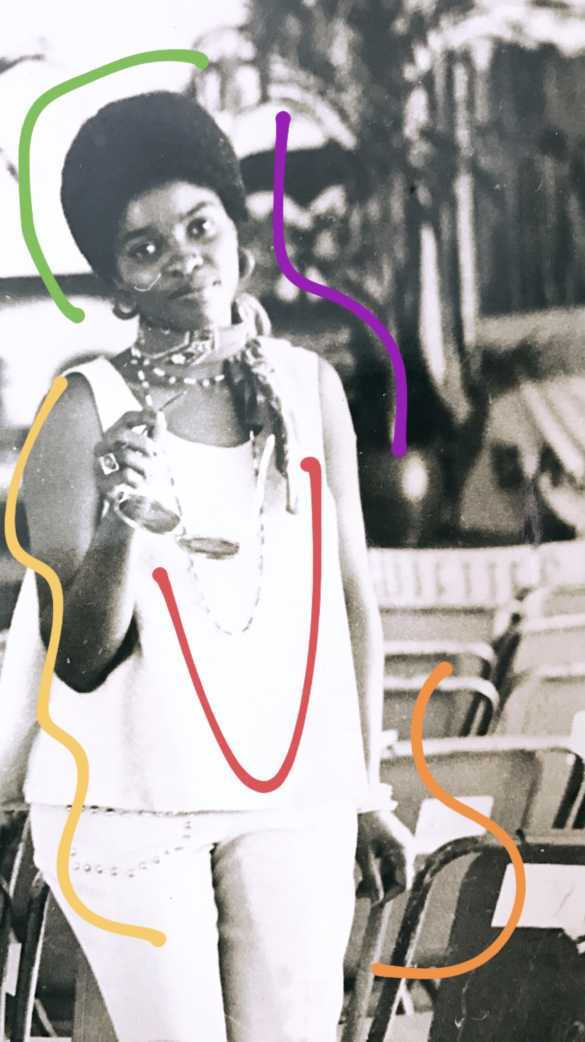 Mom in Trinidad & Tobago in the 1970's