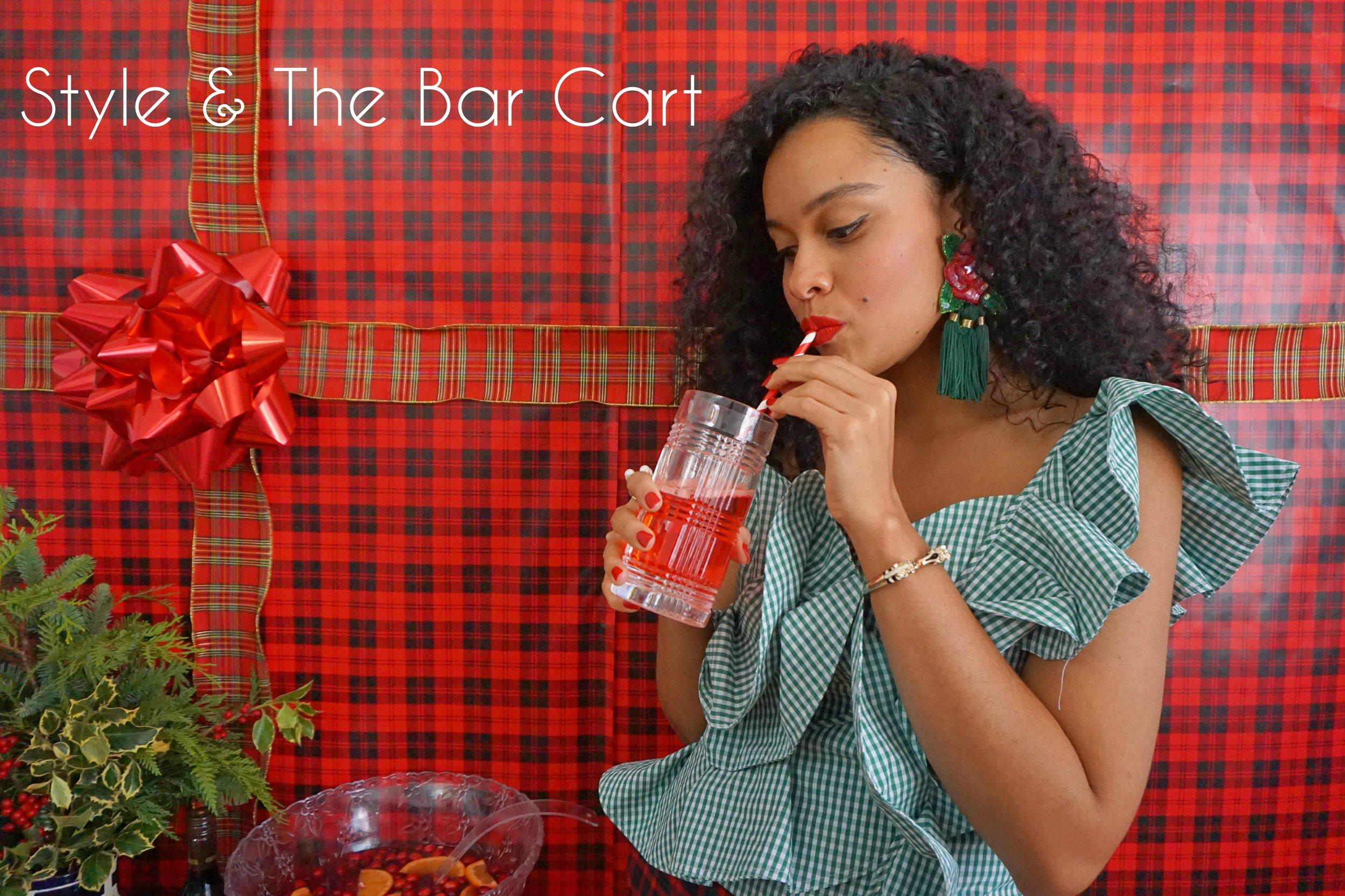 tartan bar cart 1