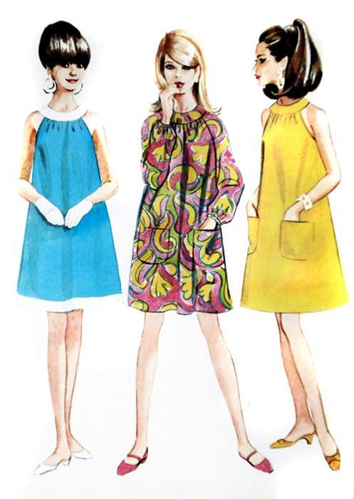 60'S SHIFT/TRAPEZE DRESSES