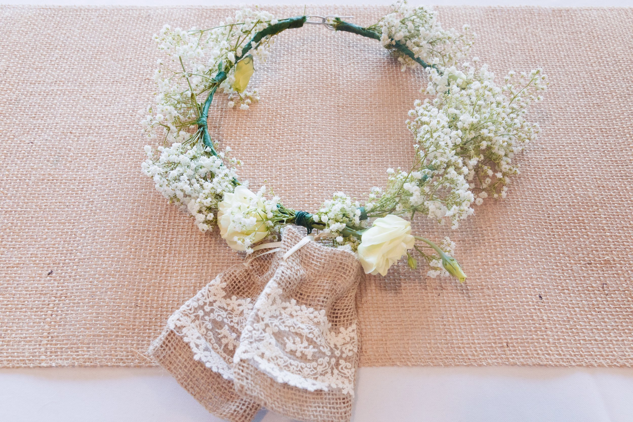 Floral (ring bearer) dog collar