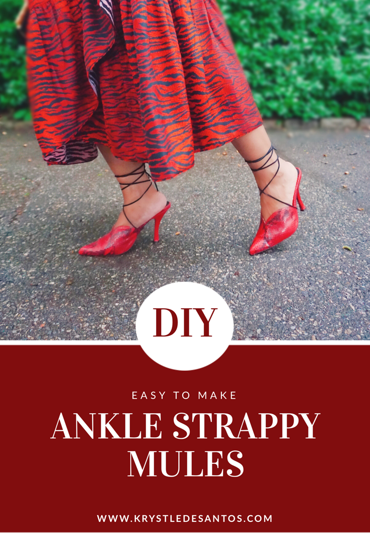 DIY STRAPPY MULES