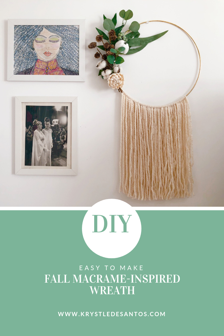DIY MACRAME FALL WREATH