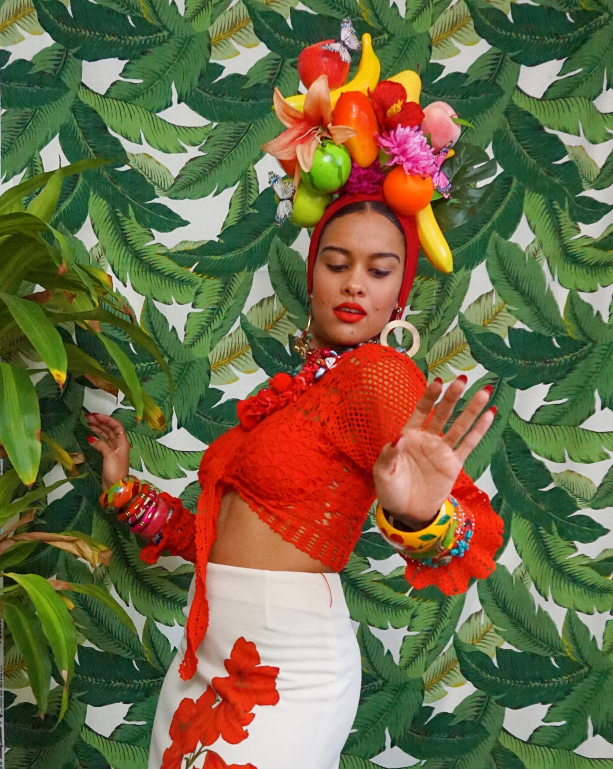 Tutti frutti birthday outfit Carmen Miranda Baby fruit costume