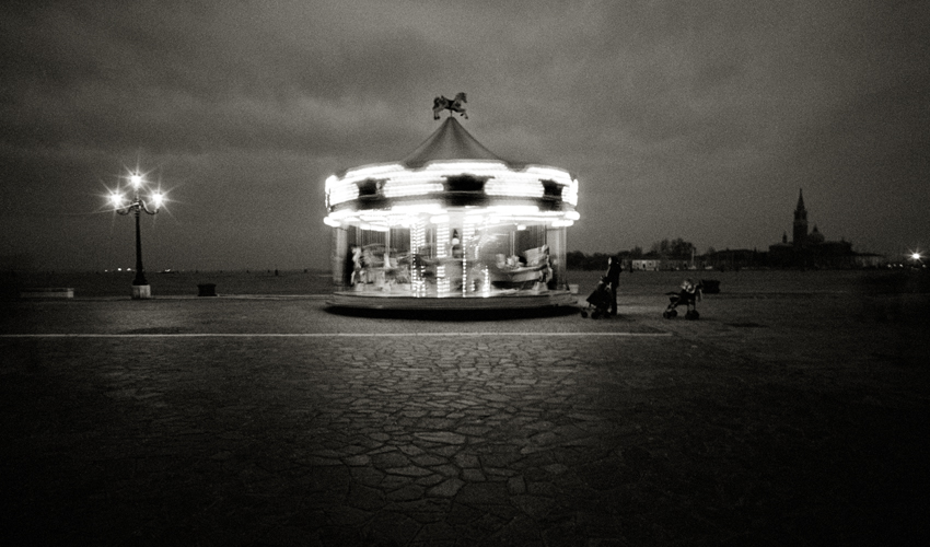 """""""VENICE - Carousel"""" - (2007)   Giclee Archival Print 68.5cm x 40.5cm (27in x 16in) Edition Available - 14 / 95 Signed, Titled, Numbered and Dated in pencil by Photographer"""
