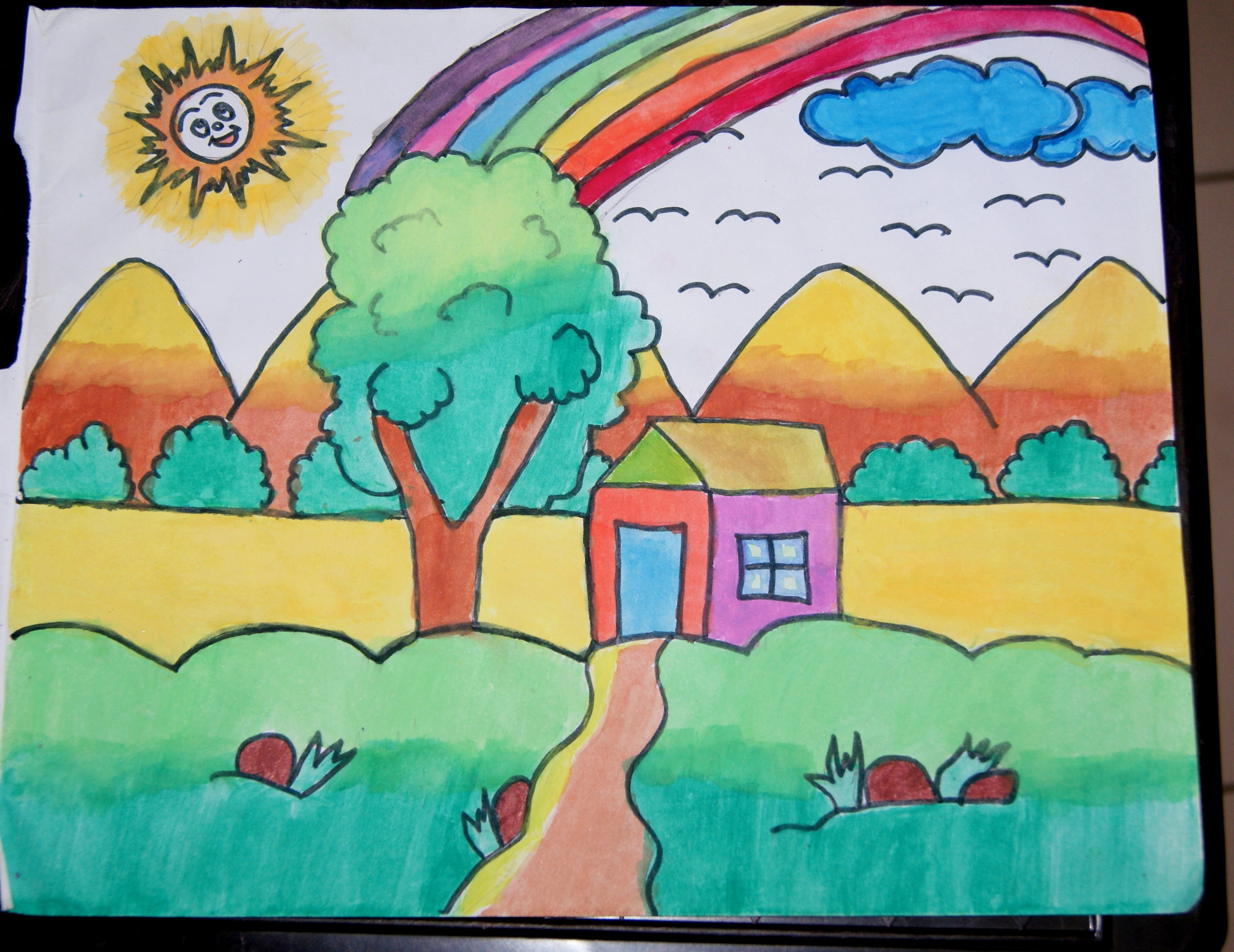 Art submitted to us by Pankh - The Creative School in November 2017 . Drawn by one of their youth artists.