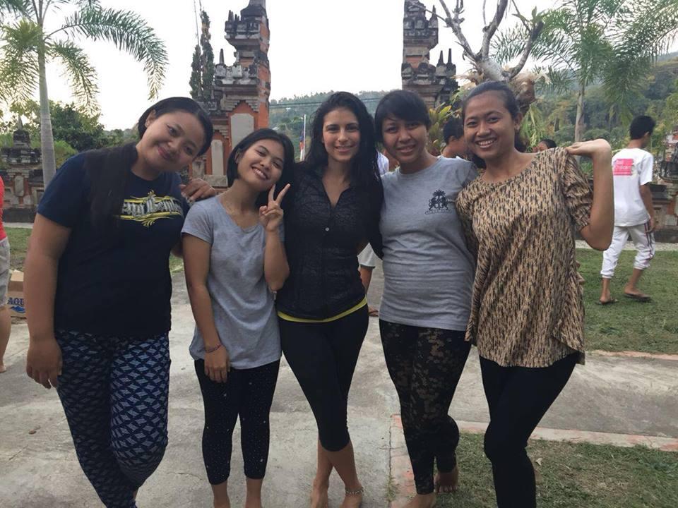 Volunteer Yoga Teacher Lorena with the wonderful BCF staff and volunteers