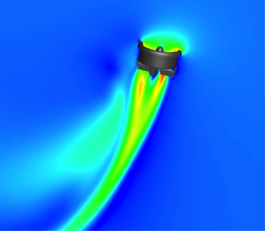 CFD for AVID EDF-8 UAV