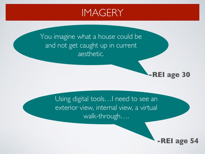 Thoughts on the imagery's importance in REI