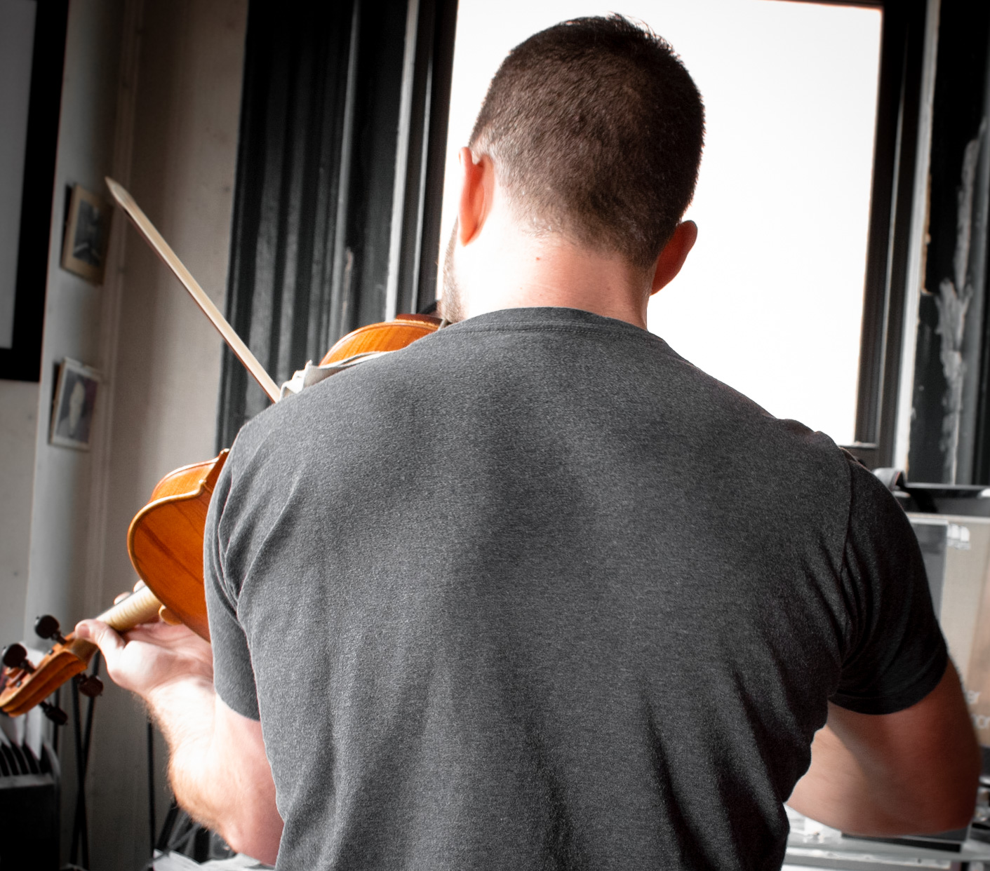 """You can only get a back this jacked by playing viola like a boss."" – Drew Ricciardi [this quote may not have actually been said by Drew Ricciardi]"