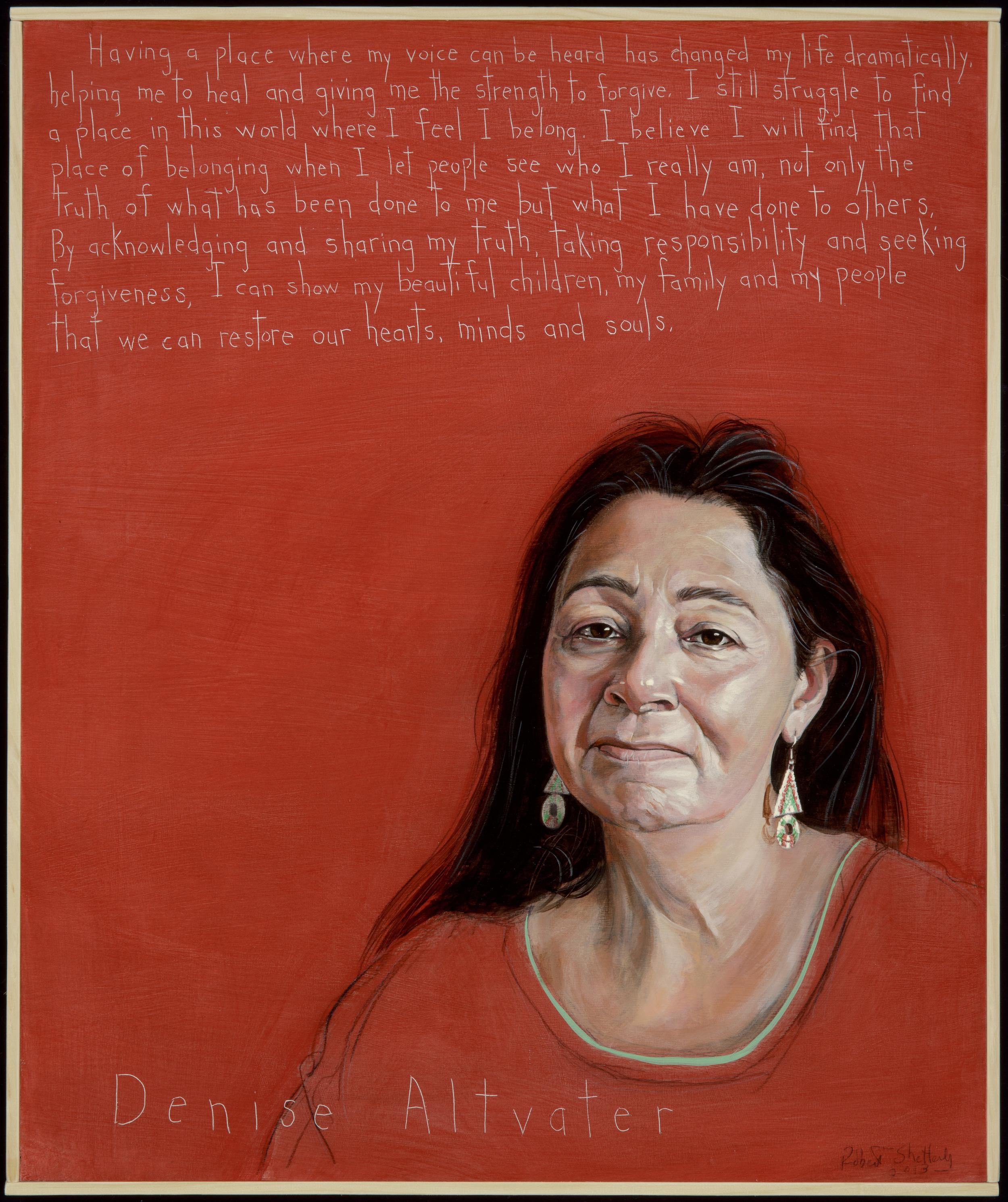 Denise Altvater, leader in creating TRC- Portrait by Robert Shetterly