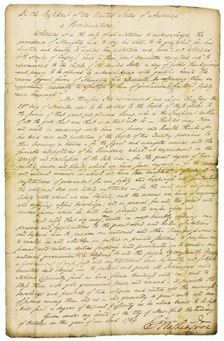 Original handwritten Phips Proclamation, 1755