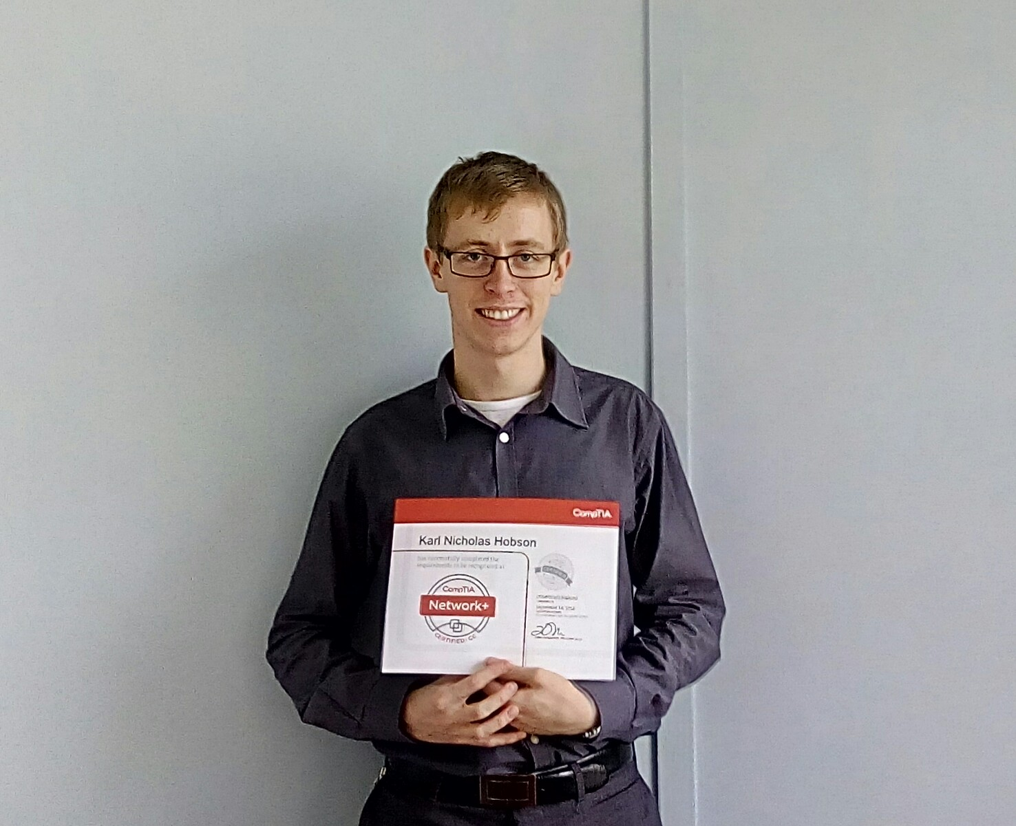 """I'm very happy to   have gained my Network+ qualification and I am looking forward to applying the skills gained from this and also building towards further learning   and qualifications""     –     Karl Hobson  ."