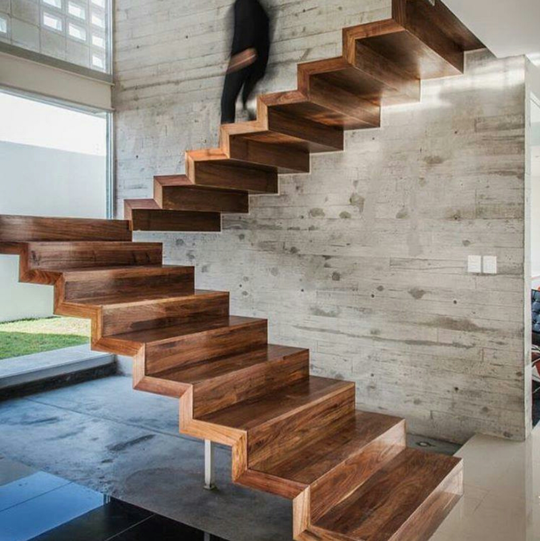 WOOD staircase.
