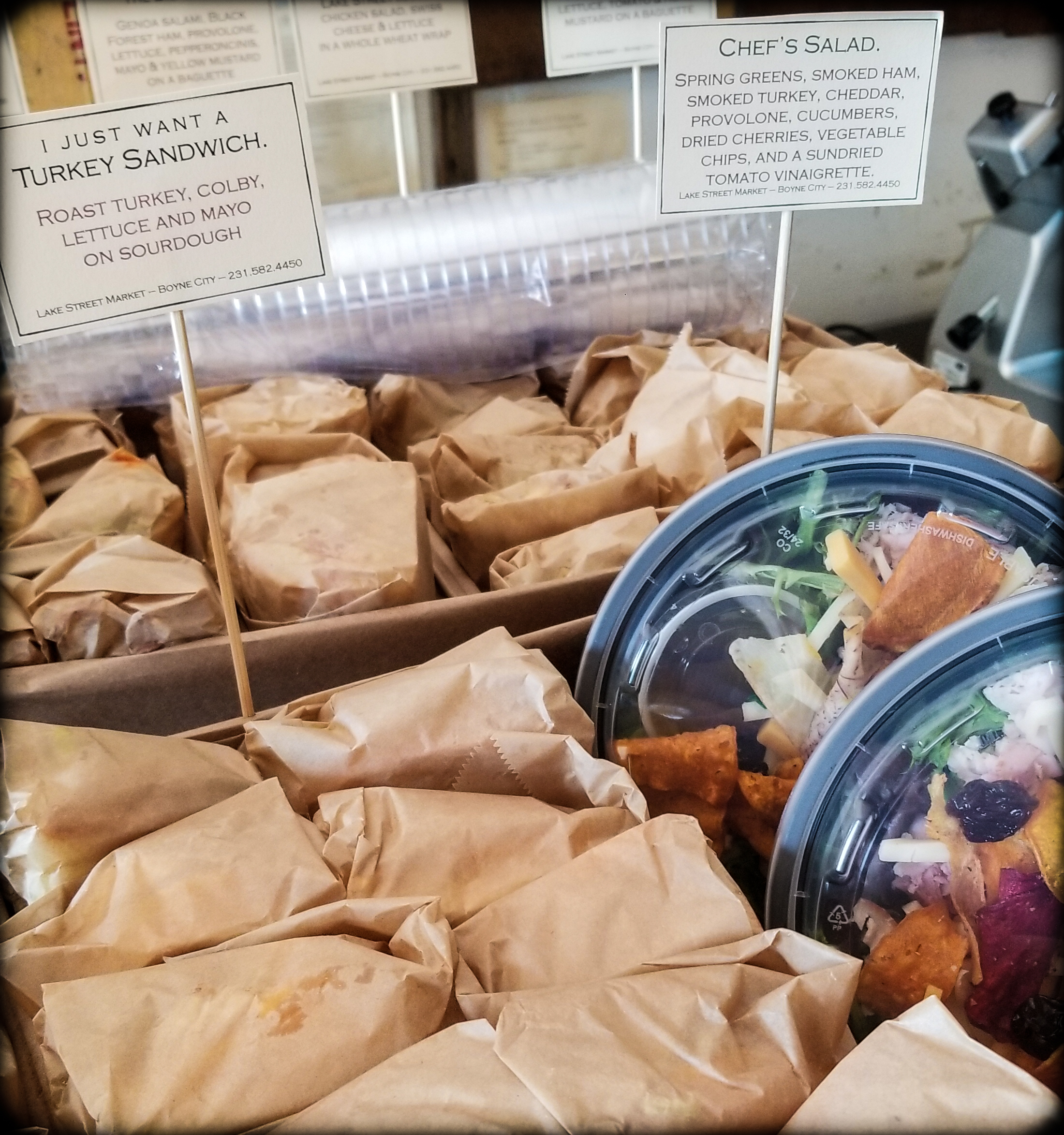 Assorted half sandwiches and chef salads from Lake Street Market make for a way-above-average lunch meeting.