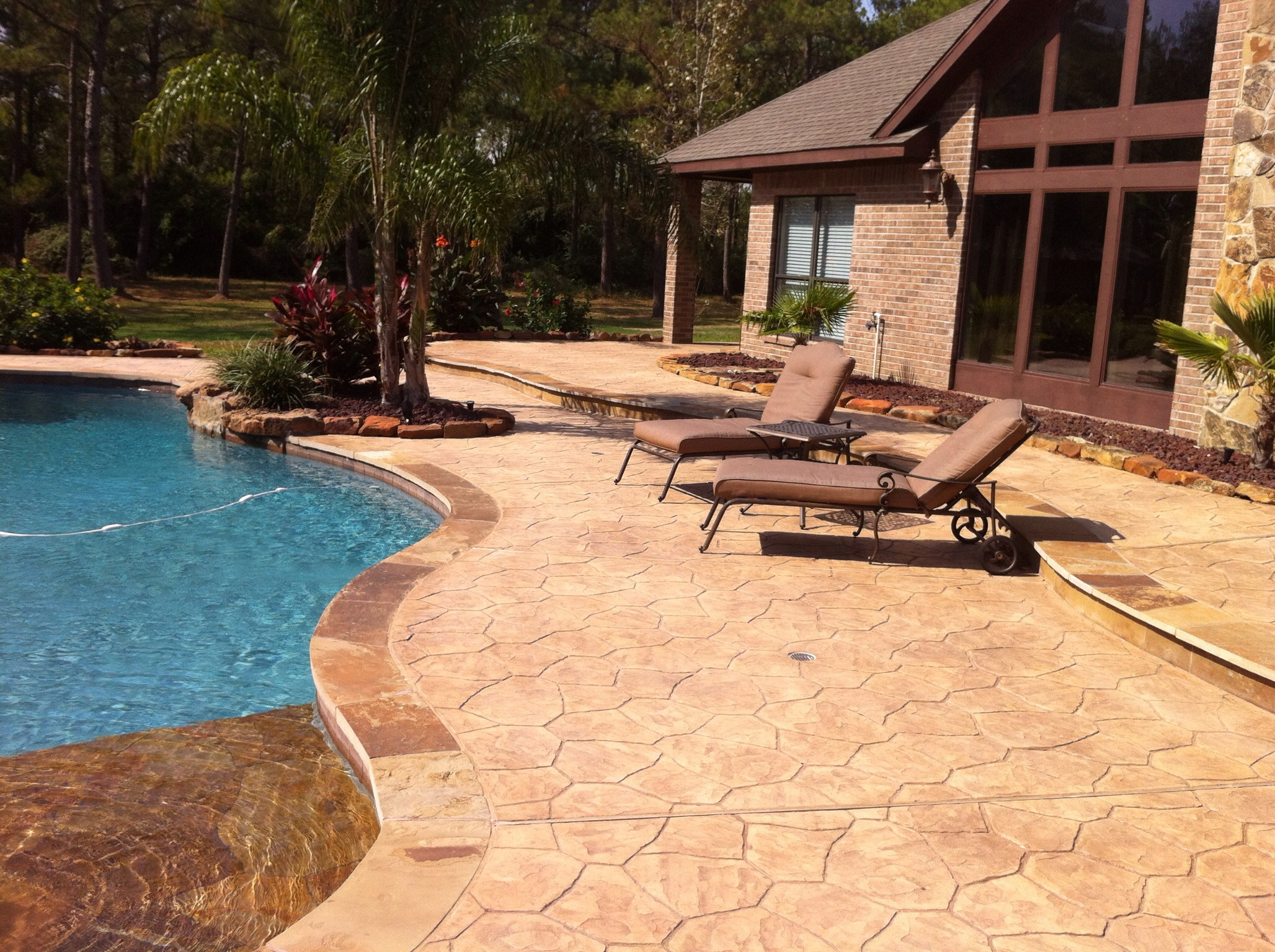 Stamped Overlay (Flagstone Pattern)