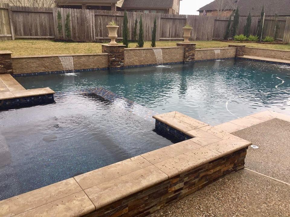 Geometric Pools — Backyard Amenities | Houston Pool Builder ...