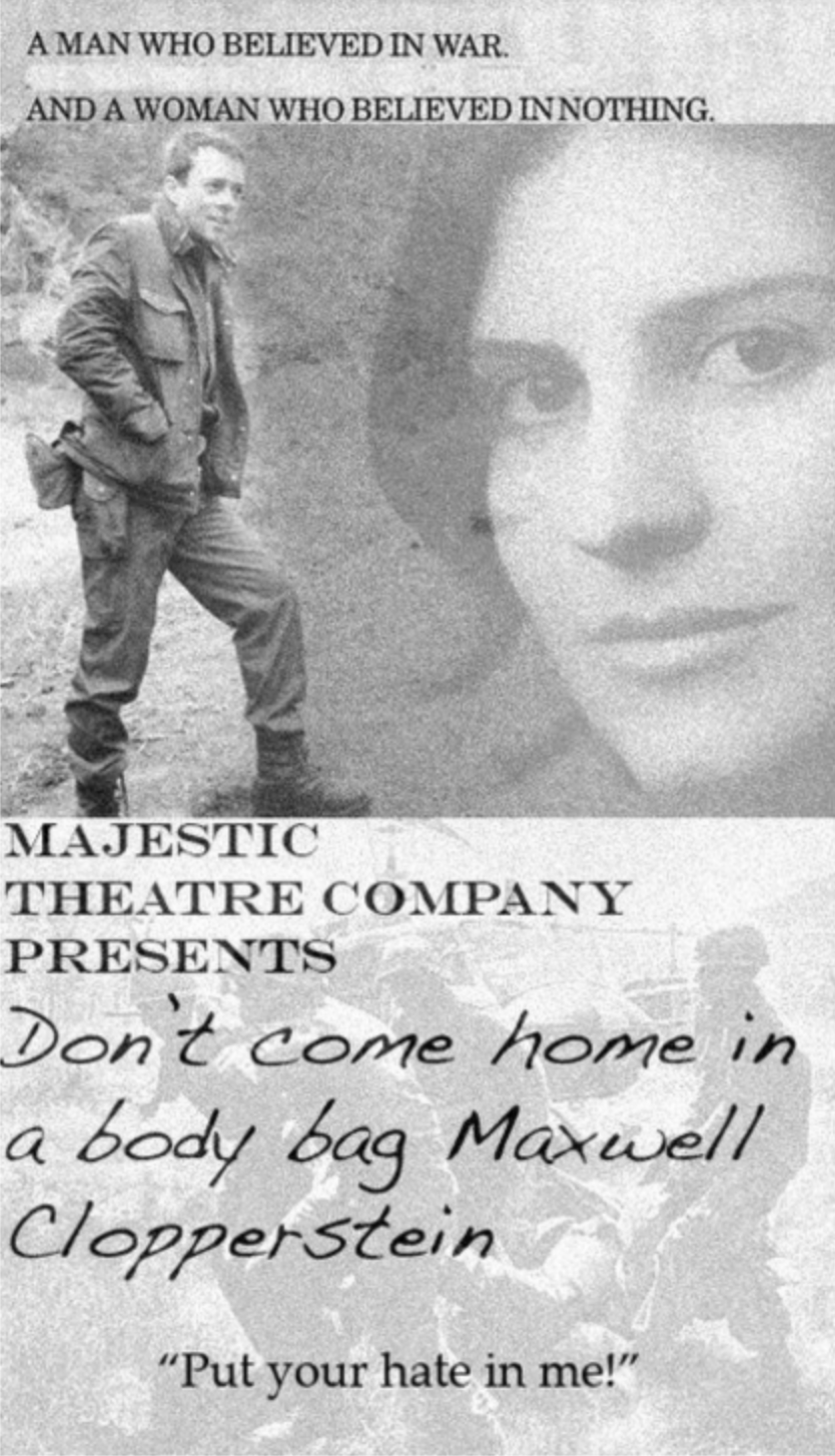 Poster from the play done as part of the majestic Theater Co web series