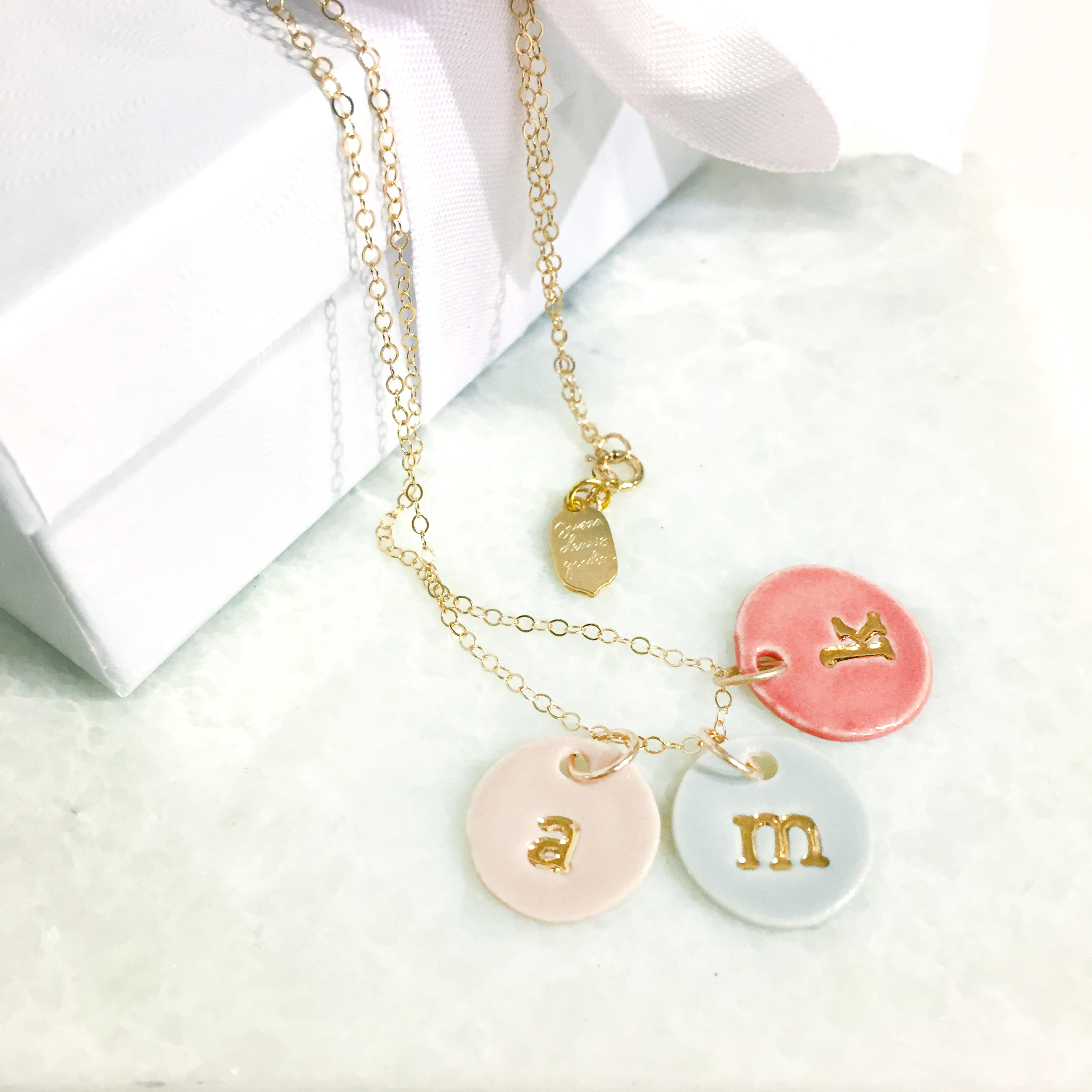 charm necklaces, 22k gold, personalize