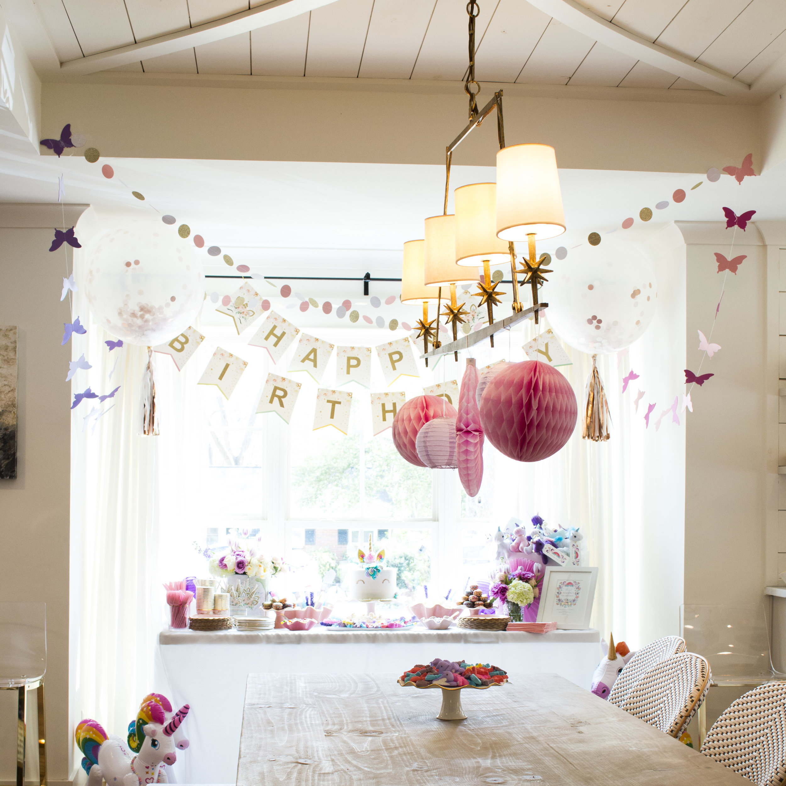Shop the chandelier decorations  here . Photo by Graciela Blevins.