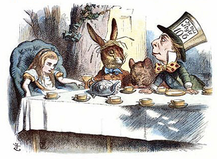 "Said the Hatter with a sigh, ""It's always tea   time  ."""