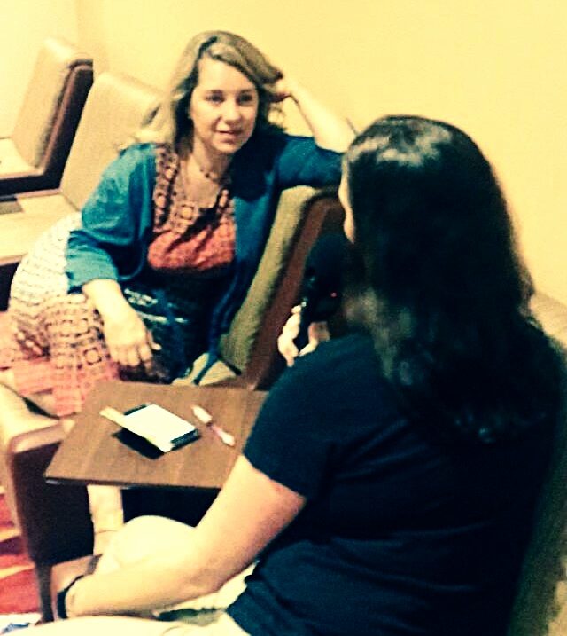 Angie interviewing Cassandra Vieten at the IONS conference