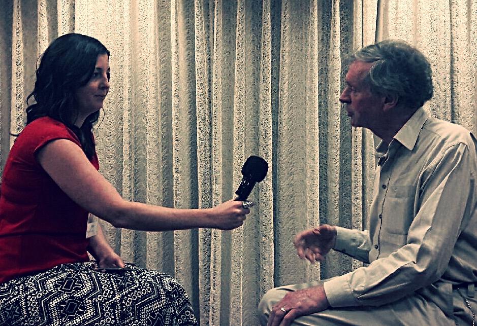 Haley interviewing Dr. Sheldrake