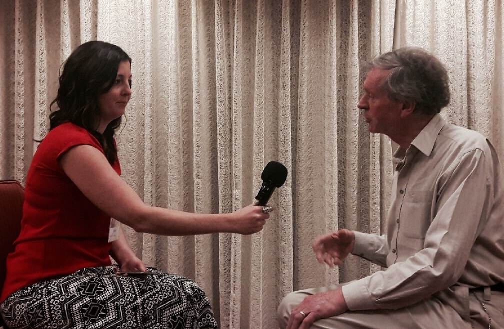 Haley interviewing Dr. Sheldrake at the Science of What Connects Us conference by IONS
