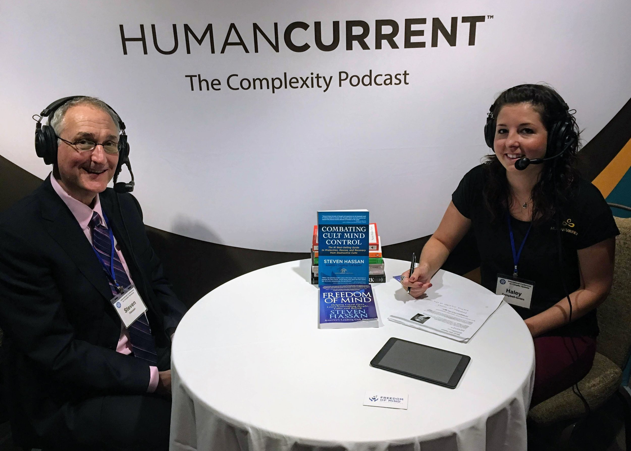 Haley & Steven Hassan, on day one of ICCS 2018