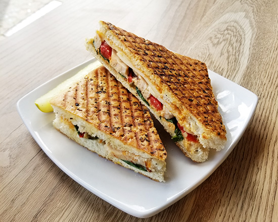 SPICY CHICKEN & BACON PANINI - $8.75
