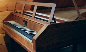 Replica of a fortepiano from Mozart's era, built by Chet.