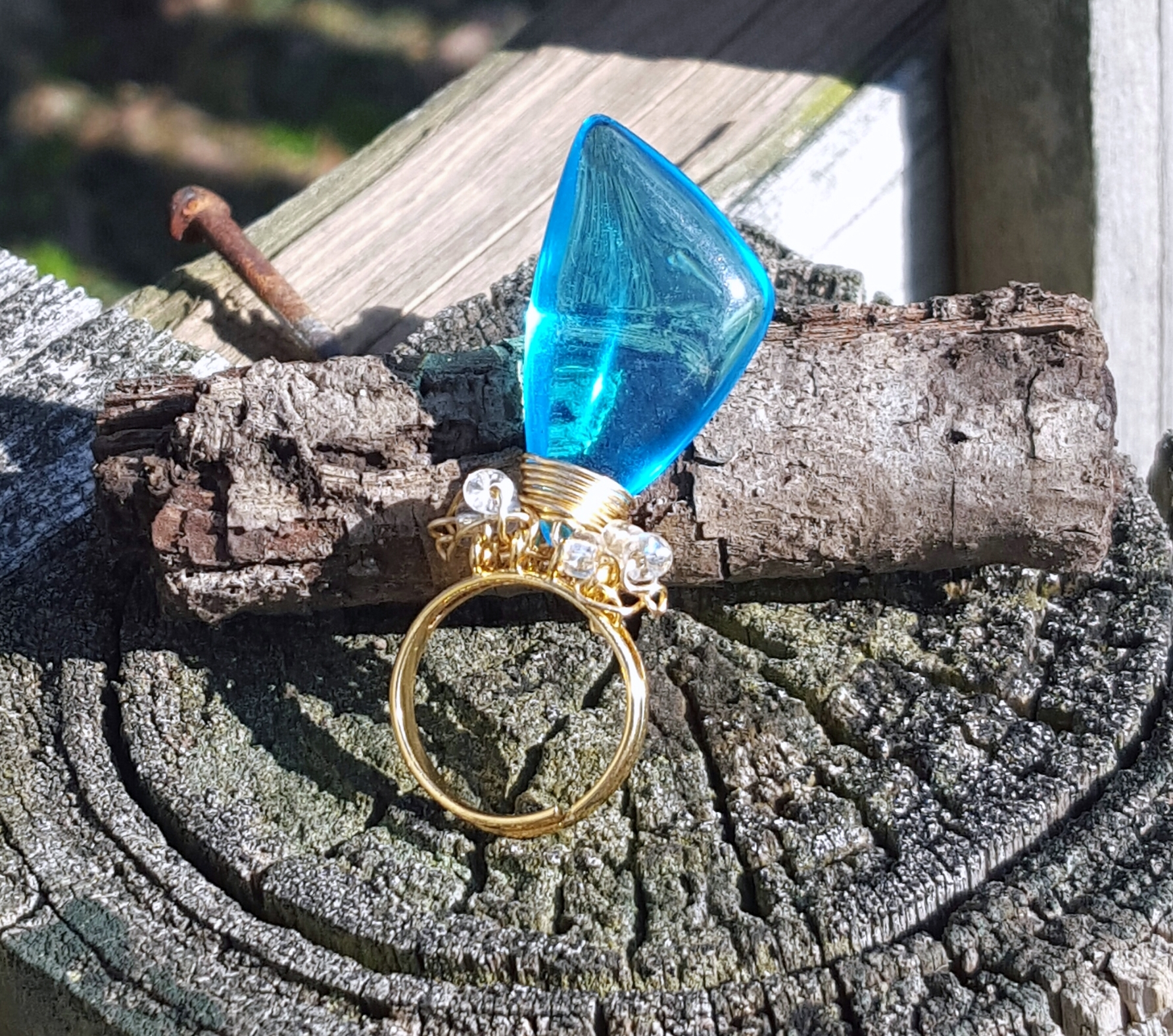 spiny urchin turquoise adjustable ring.jpg