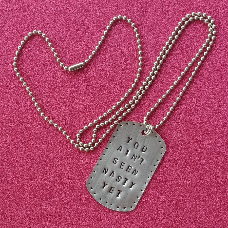 You ain't seen nasty dog tag necklace with chain