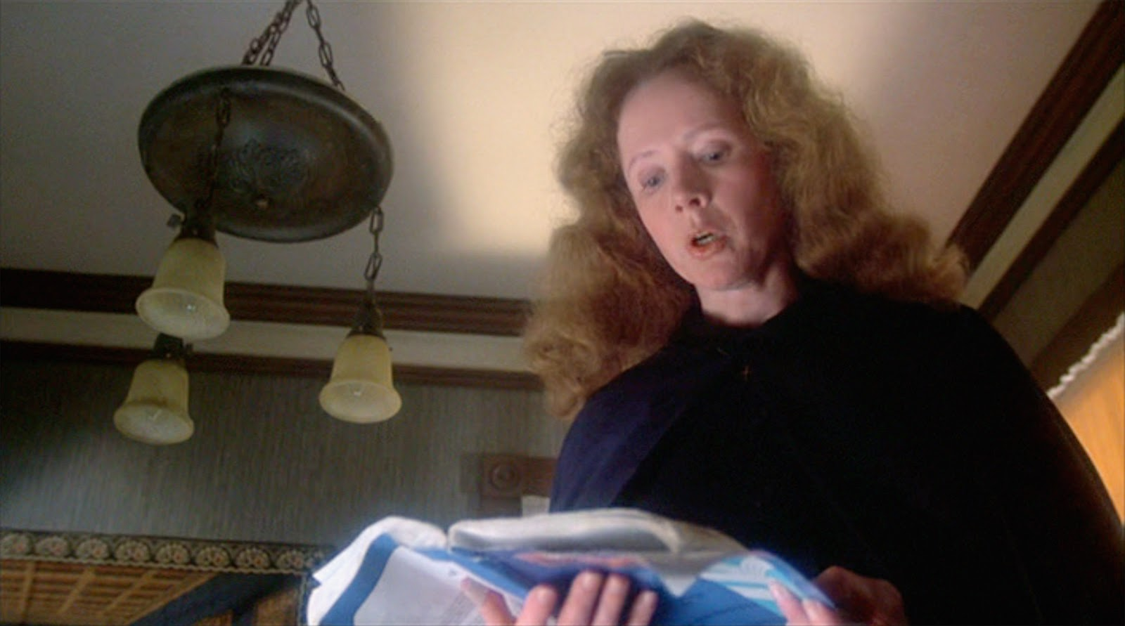 Piper Laurie as the terrifying Margaret White in Brian De Palma's  Carrie  (1976)
