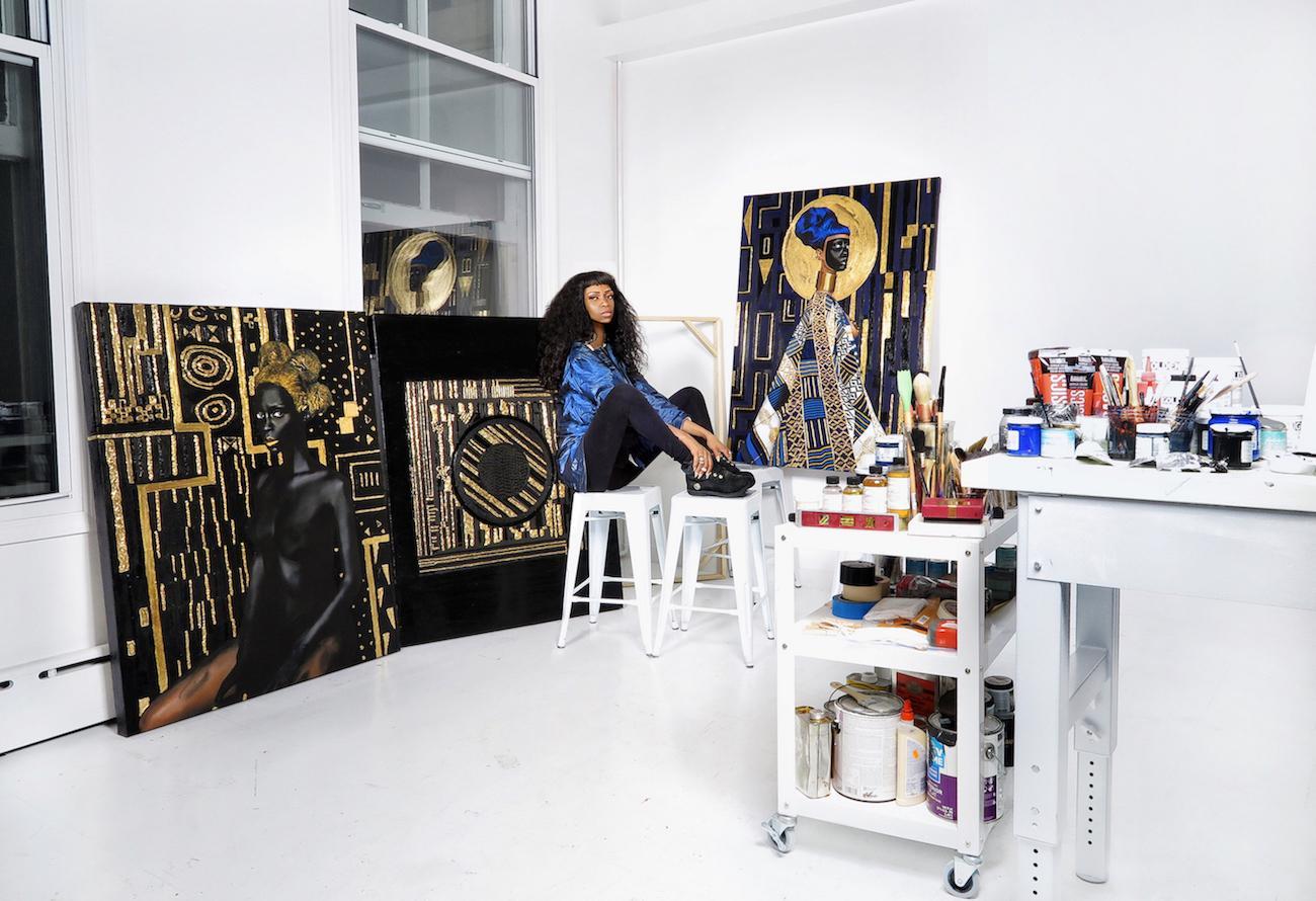 Viktor in her studio, LVXIX Atelier
